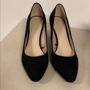 Closed toed black heels